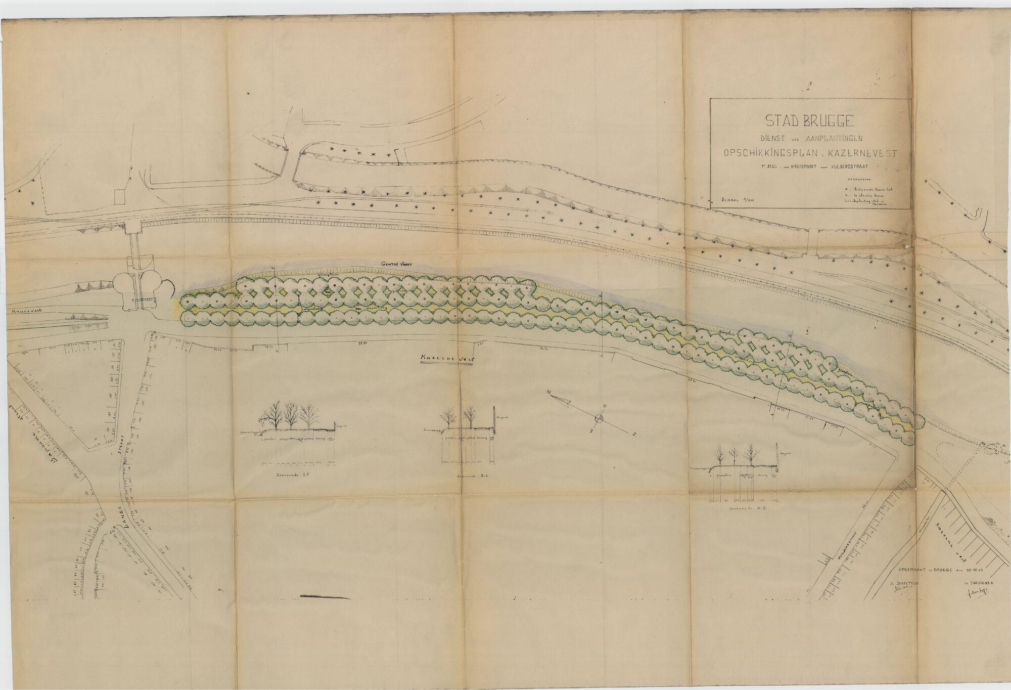 1948 Kazernevest - Opschikkingsplan van Kruispoort naar Vulderstraat.tif