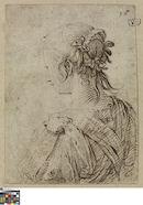 Jong meisje op de rug gezien, Jacob de Gheyn II