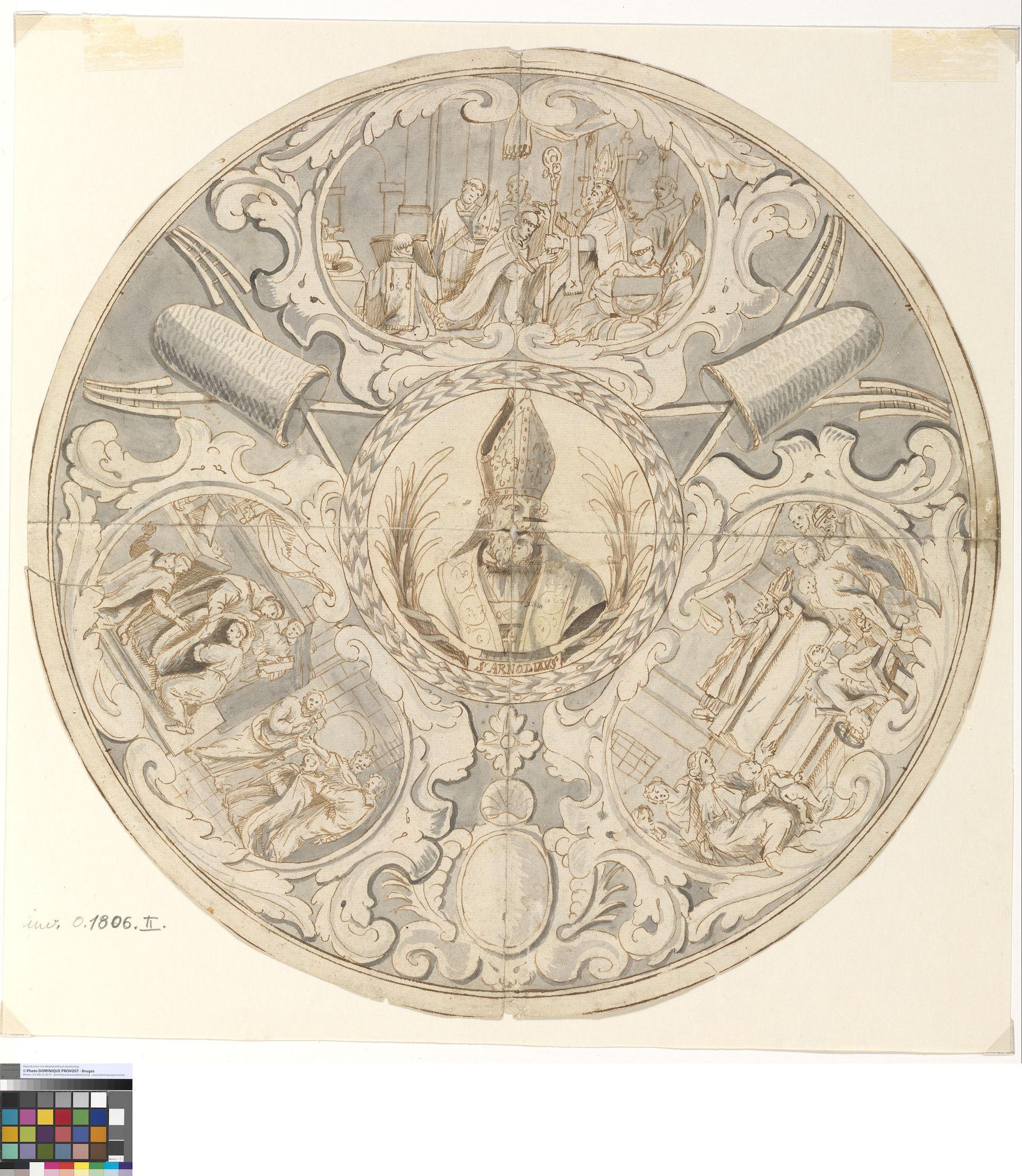 Ontwerp voor schild van de brouwersgilde, Pieter van Sichem