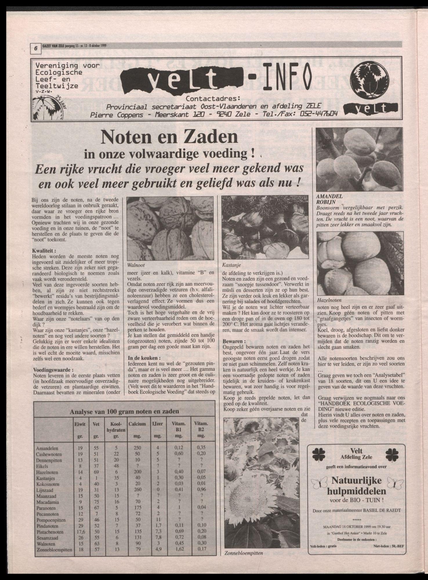 GAZET VAN ZELE 1999-10-08 p6