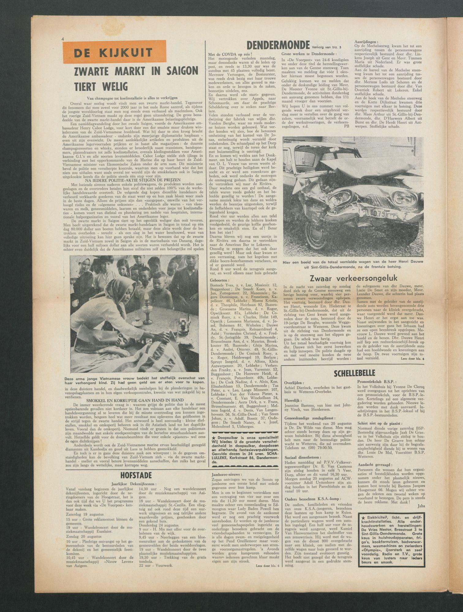 Pagina De Voorpost Los 1967 08 19 P4 Van Een Krant Bekijken Land