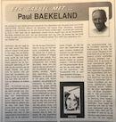 Schorisse babbelmet Paul Baekeland