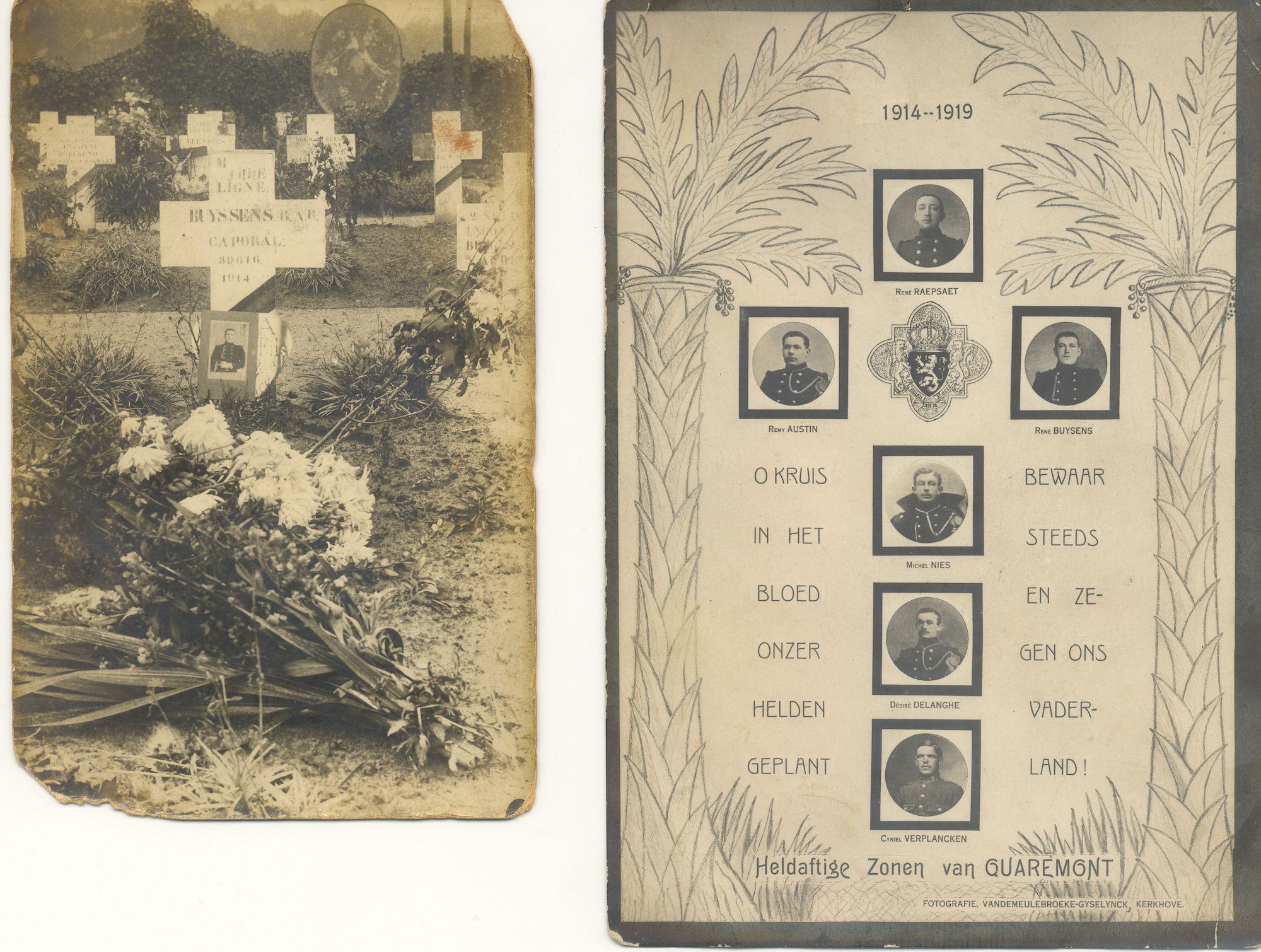 Gesneuvelden Eerste Wereldoorlog Kwaremont