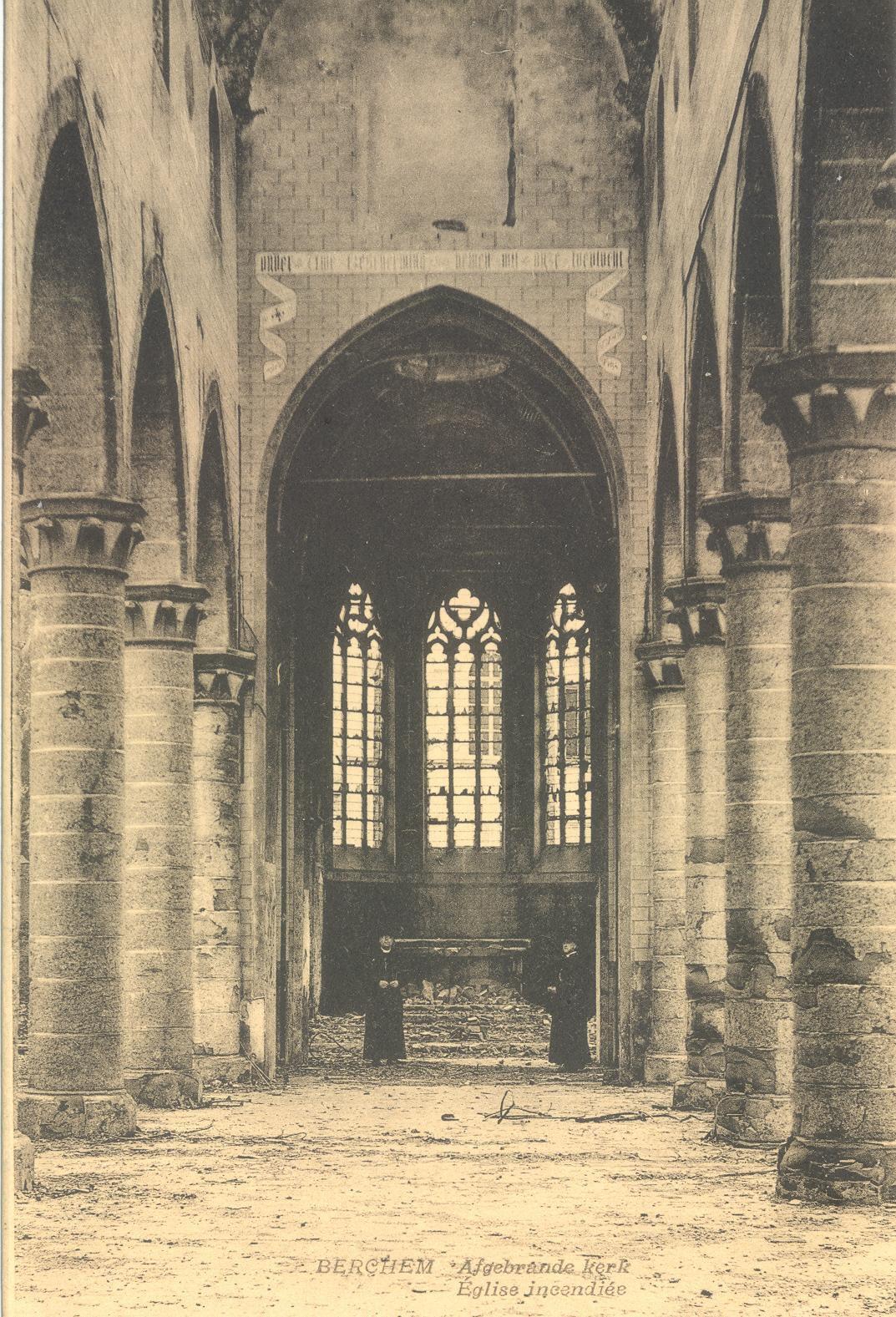 EK 108 Berchem uitgebrande kerk.JPG