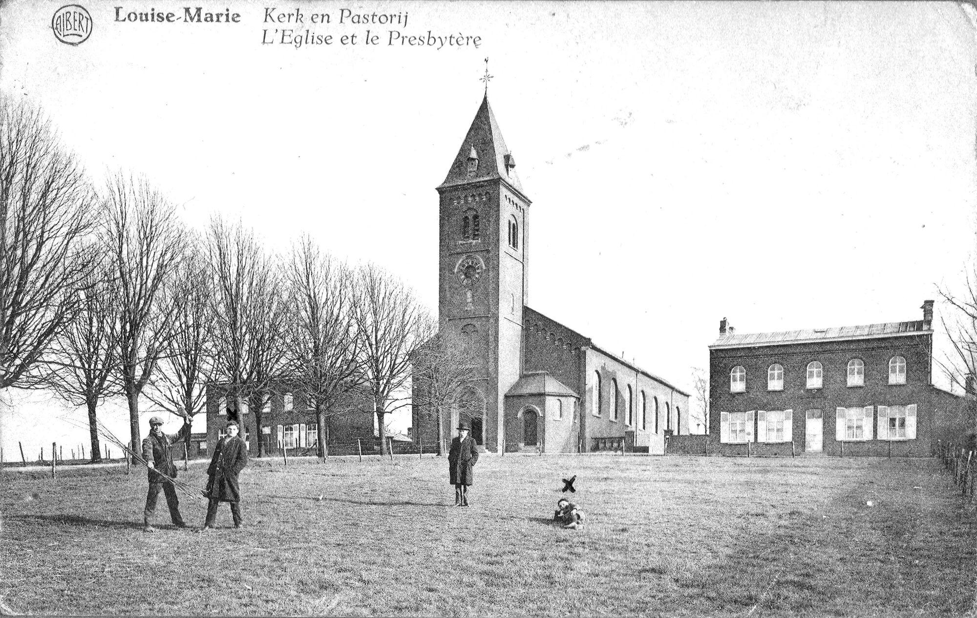 Louise Marie: kerk en pastorij 1929