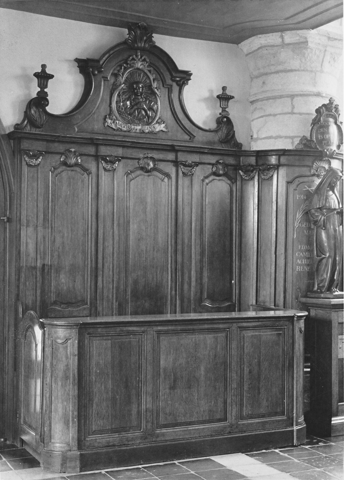 Kerkmeesterbank kerk Deftinge