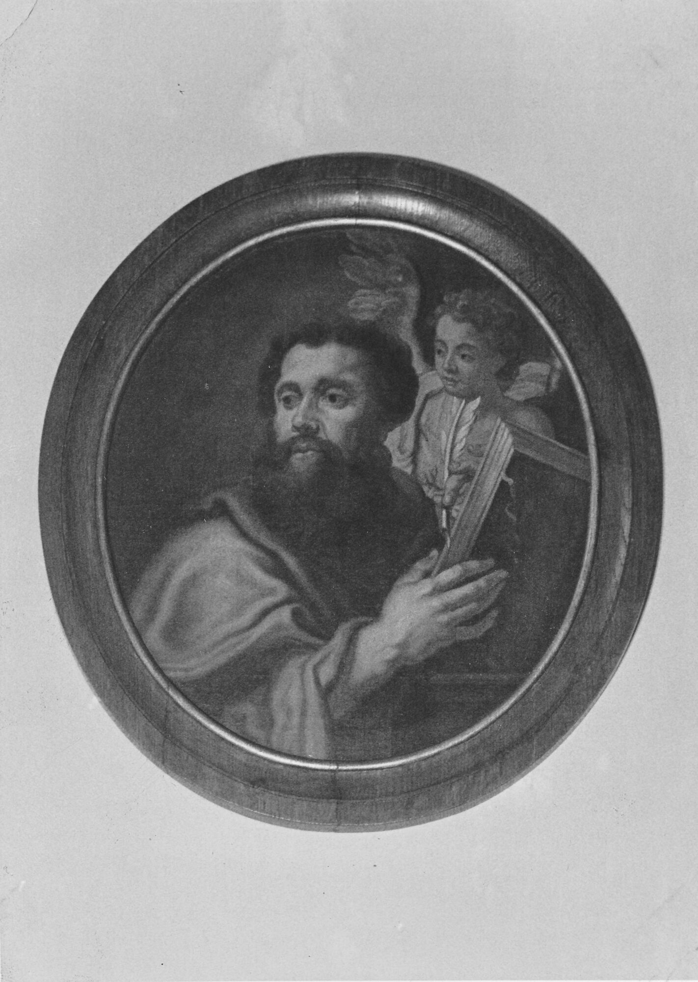 Medaillon schilderij kerk Deftinge