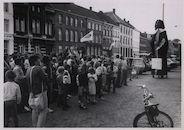 Oudenaarde. Hanske de Krijgerworp avondmarkt. 1983