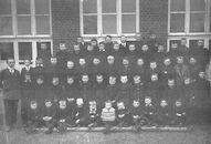 Schorisse: gemeenteschool Schorisse 2e klas 1917