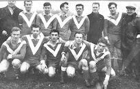 Louise Marie: groepsfoto voetbalploeg 1961