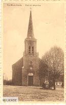 Dorpsplein met kerk Sint-Maria-Lierde