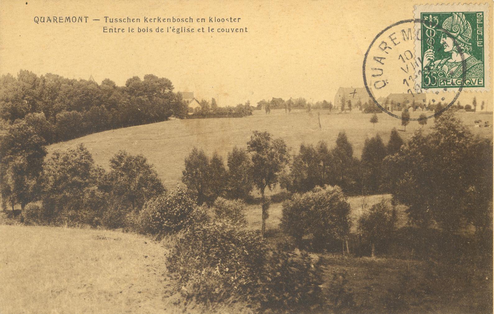 EK 400 Landschap met zicht op het klooster van Kwaremont