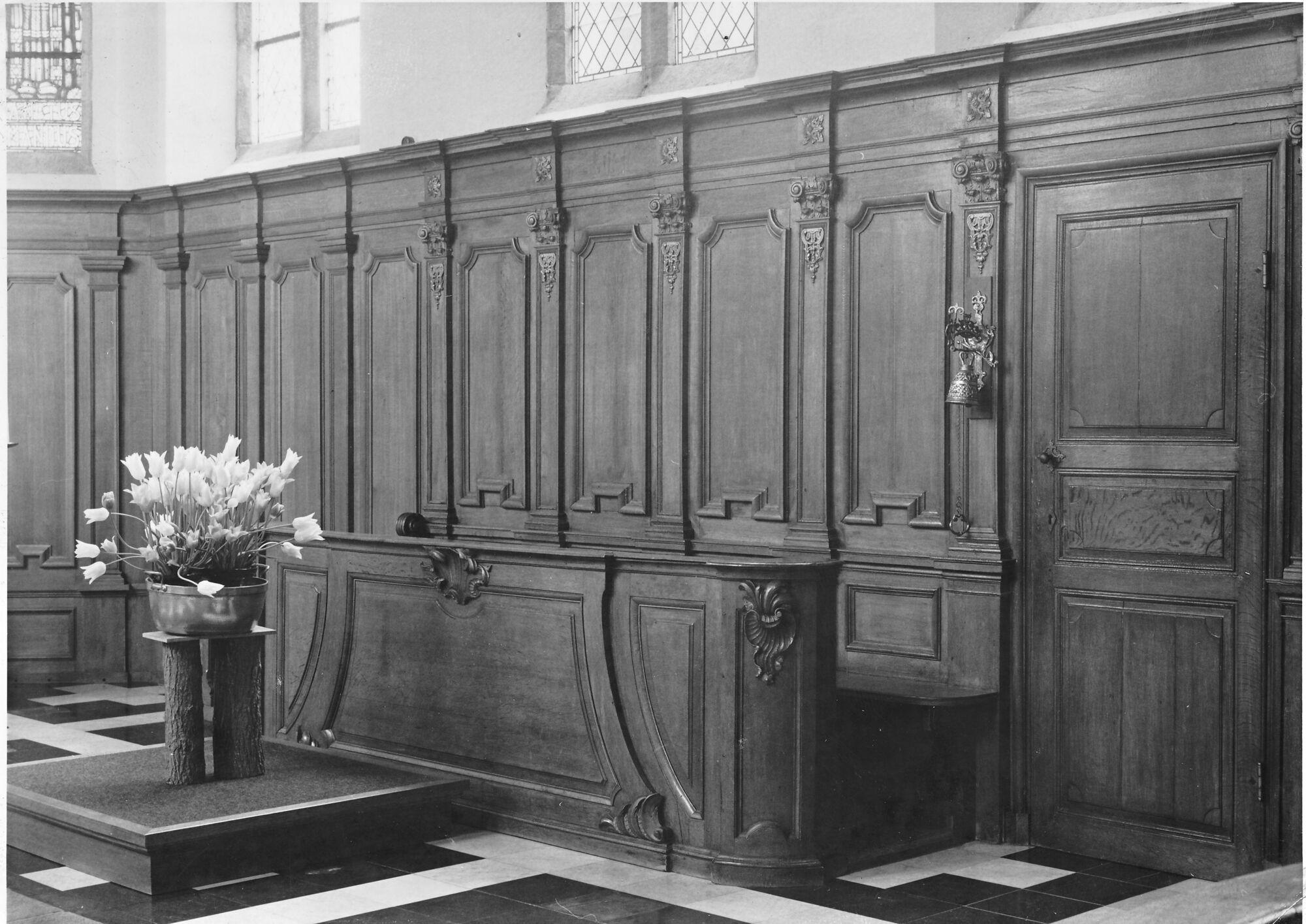 Koorbank kerk Deftinge