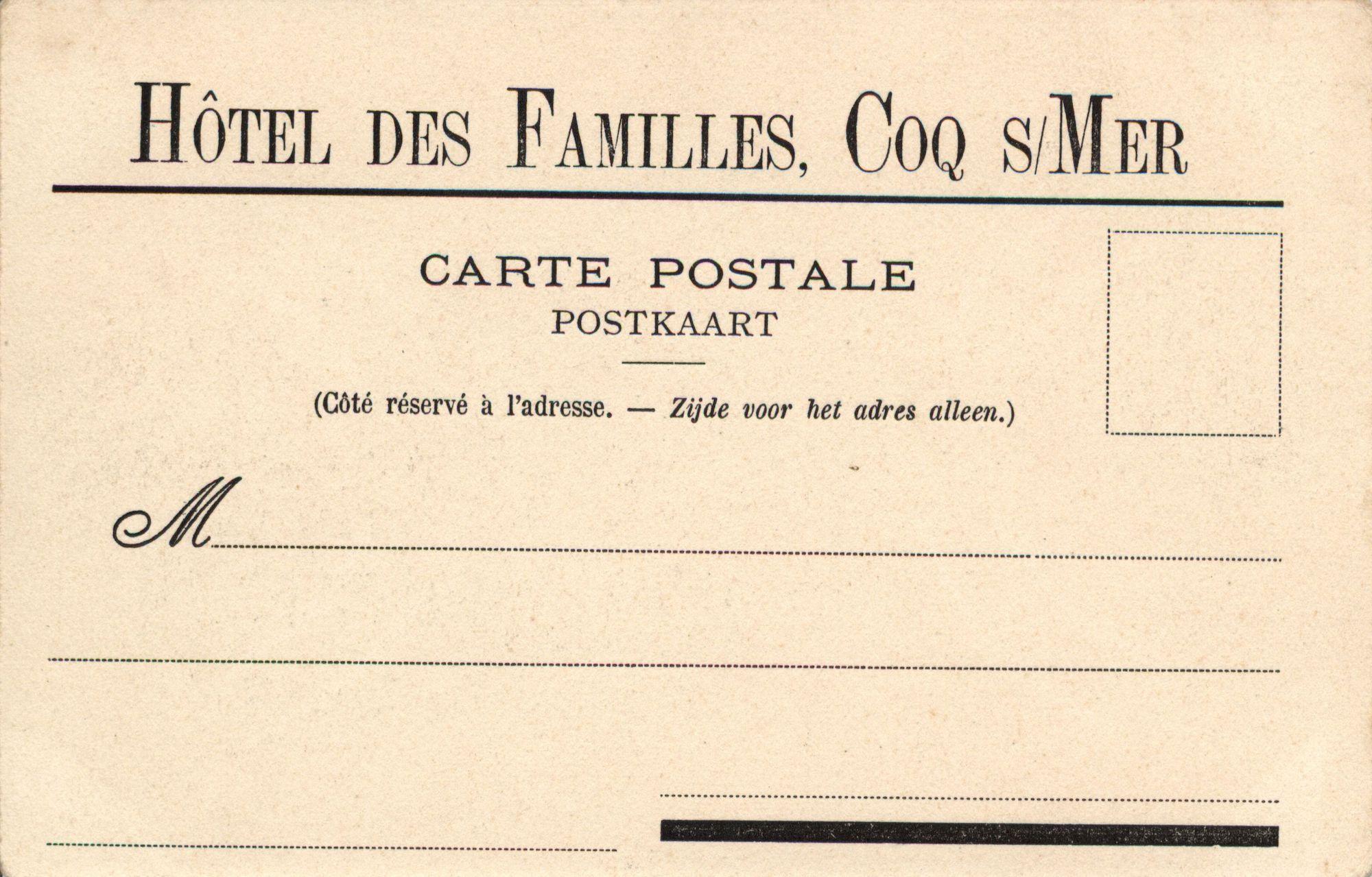 Coq Sur Mer Poste Et Télégraphe Ommezijde Kusterfgoed