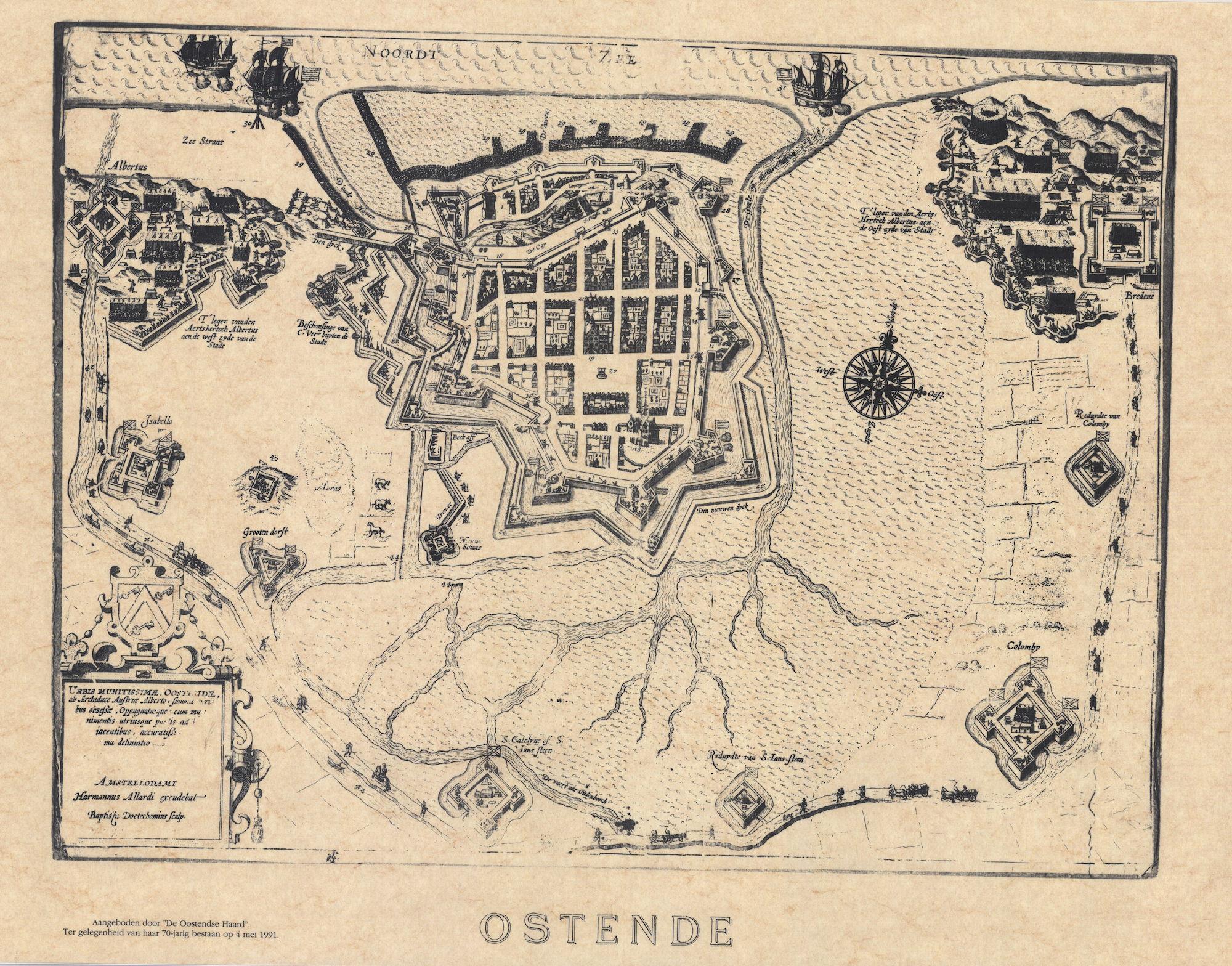 Kaart Van Oostende En Omgeving Omliggende Forten Kusterfgoed