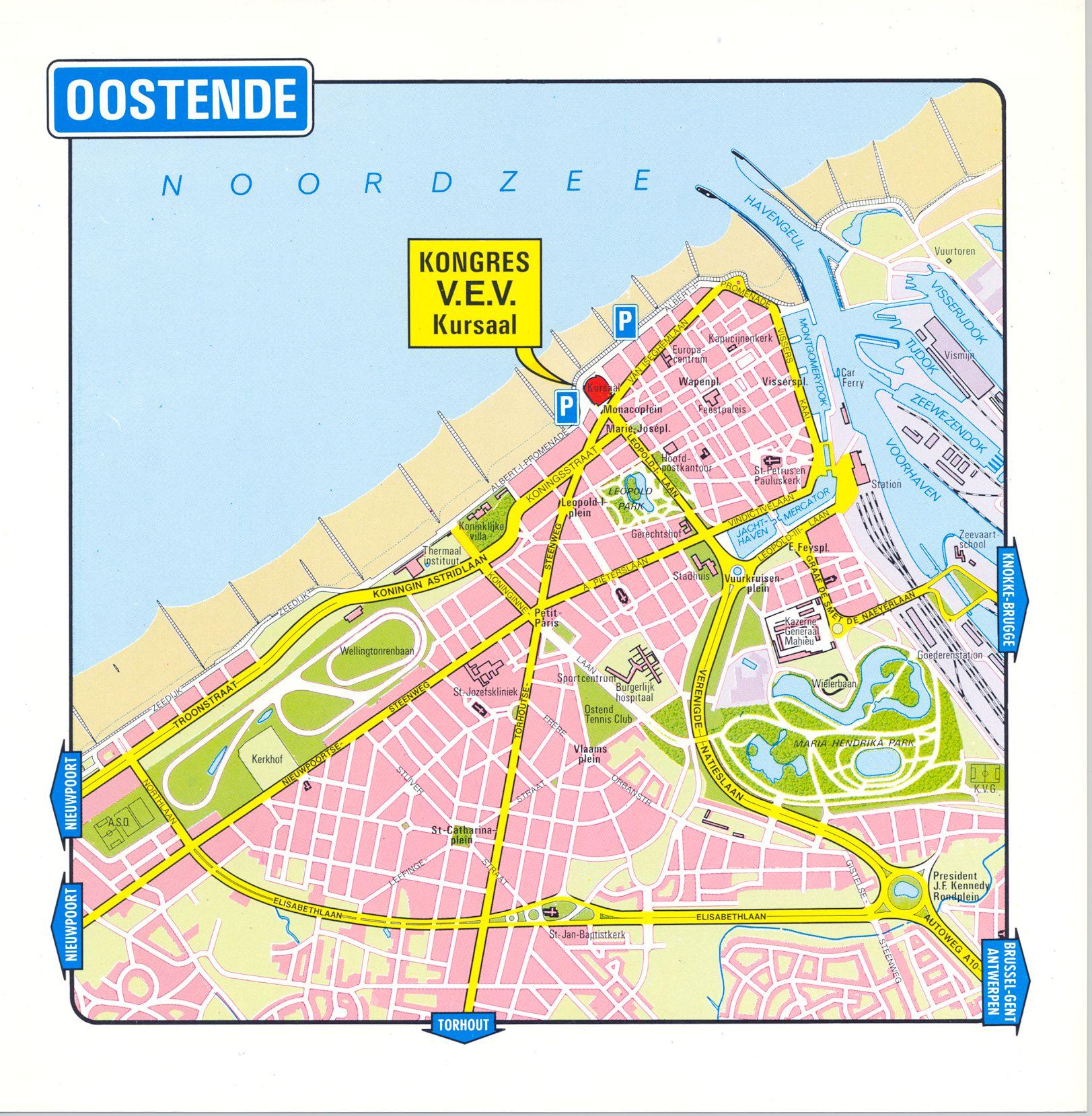 Oostende Met Stratenplan Kusterfgoed