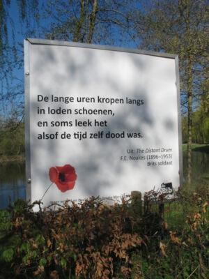 In Merelbeekse Vlaamse velden : Fietsroute langs de panelen van de bib.