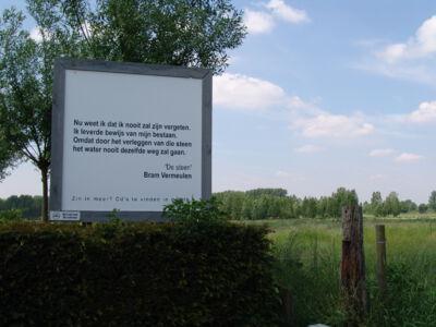 Zingende Zinnen : Fietsroute angs de panelen van de bib