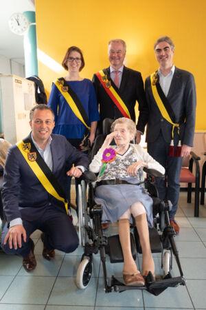 104 jarige Georgine Den Haese