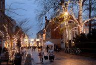 Winter in de stad sfeer