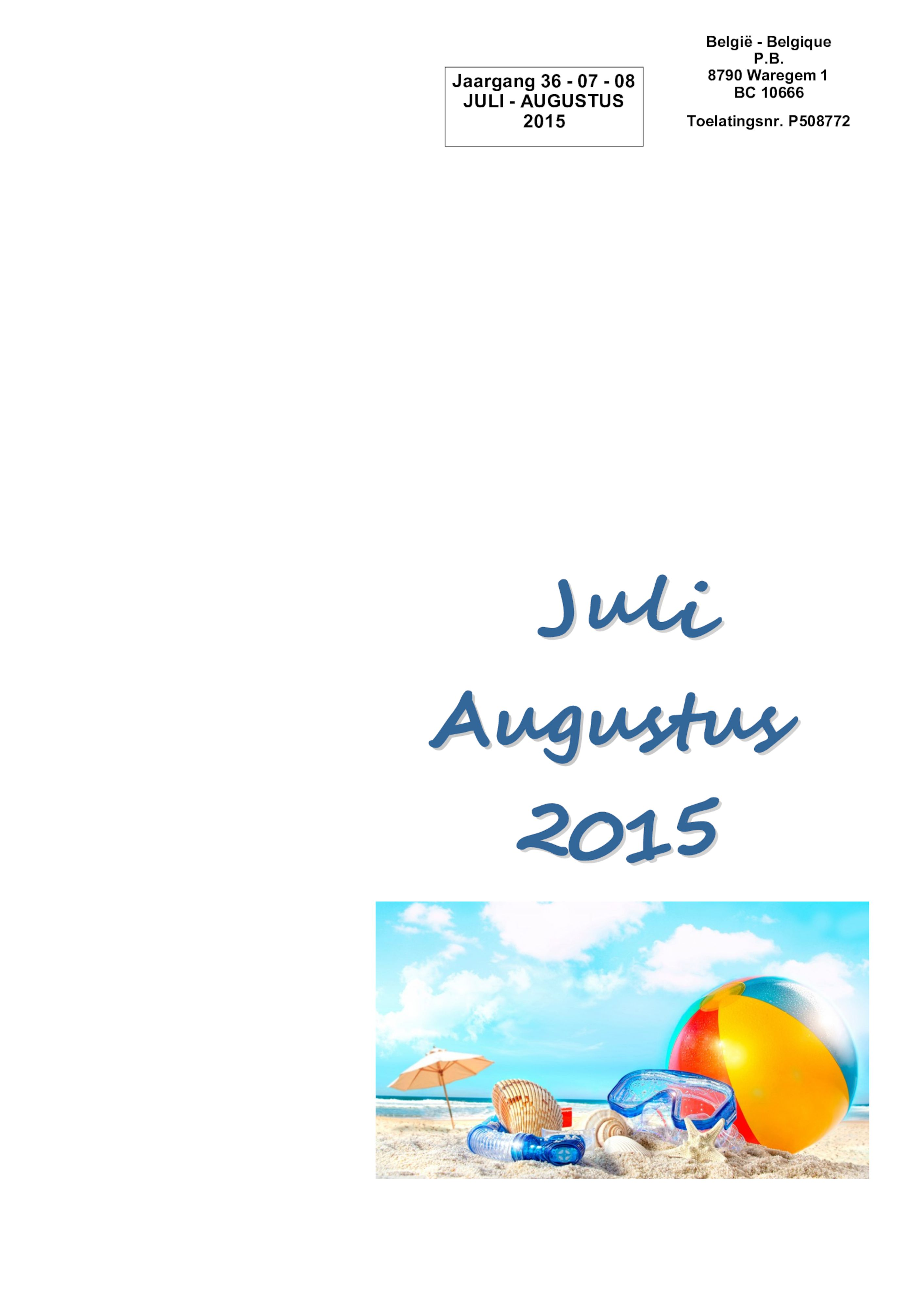 De Belle juli augustus 2015