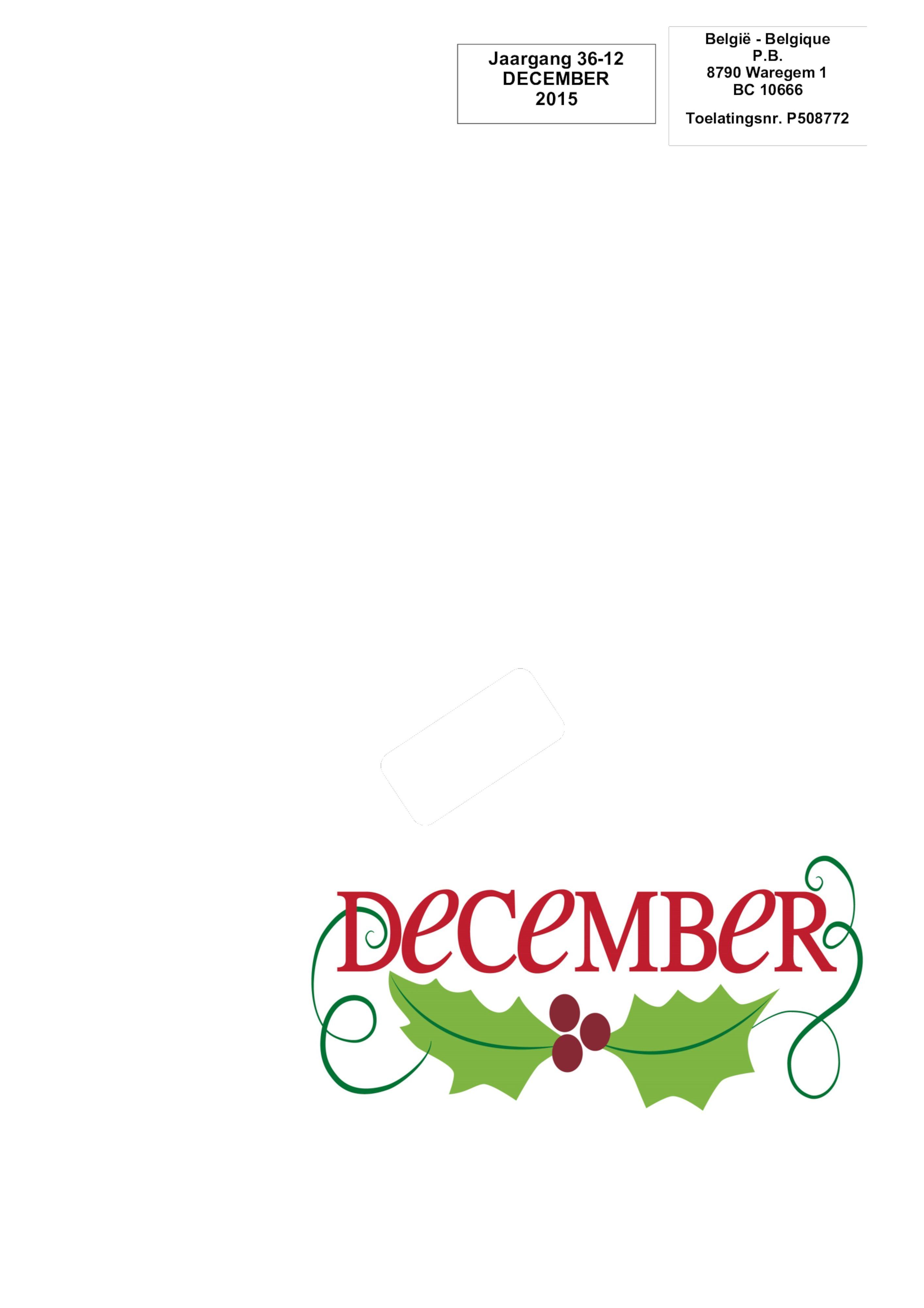 De Belle december 2015