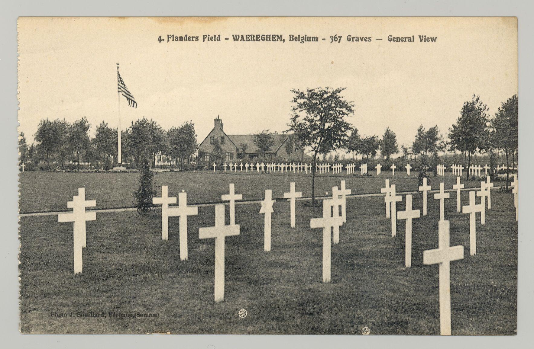 Het Amerikaans kerkhof.