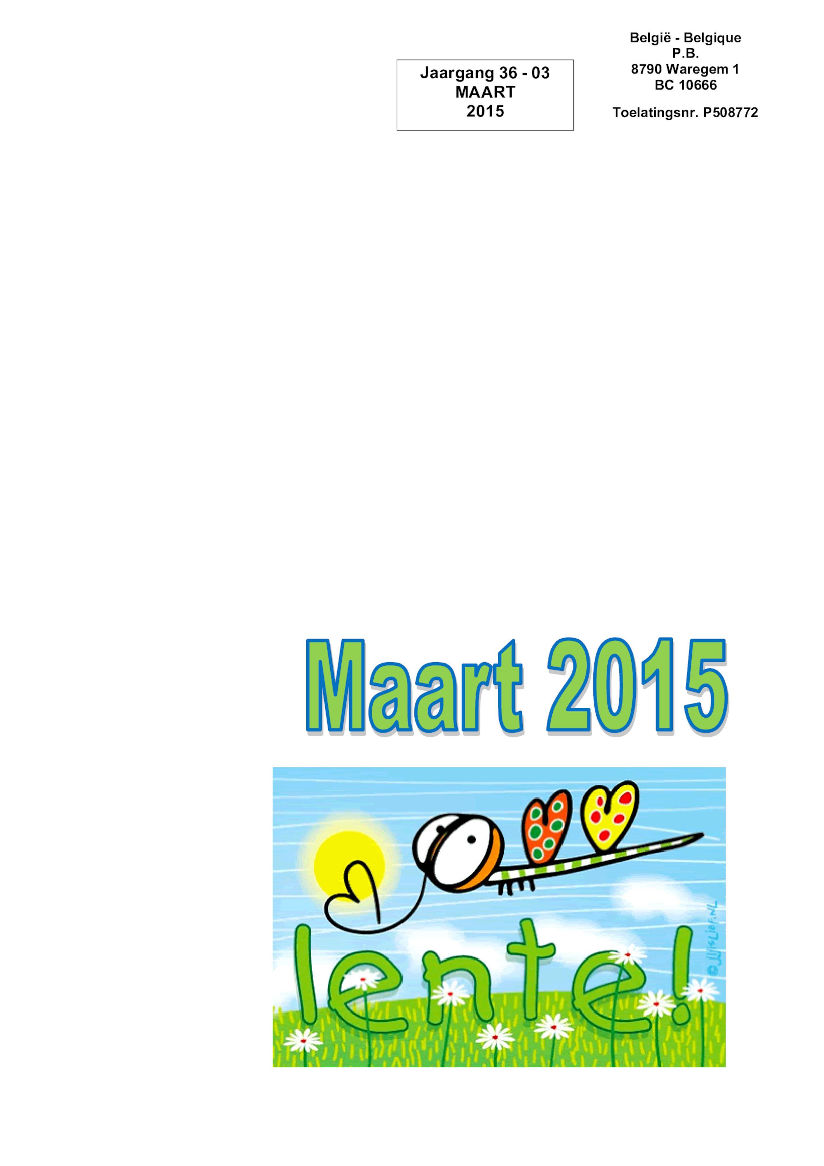 De Belle maart 2015