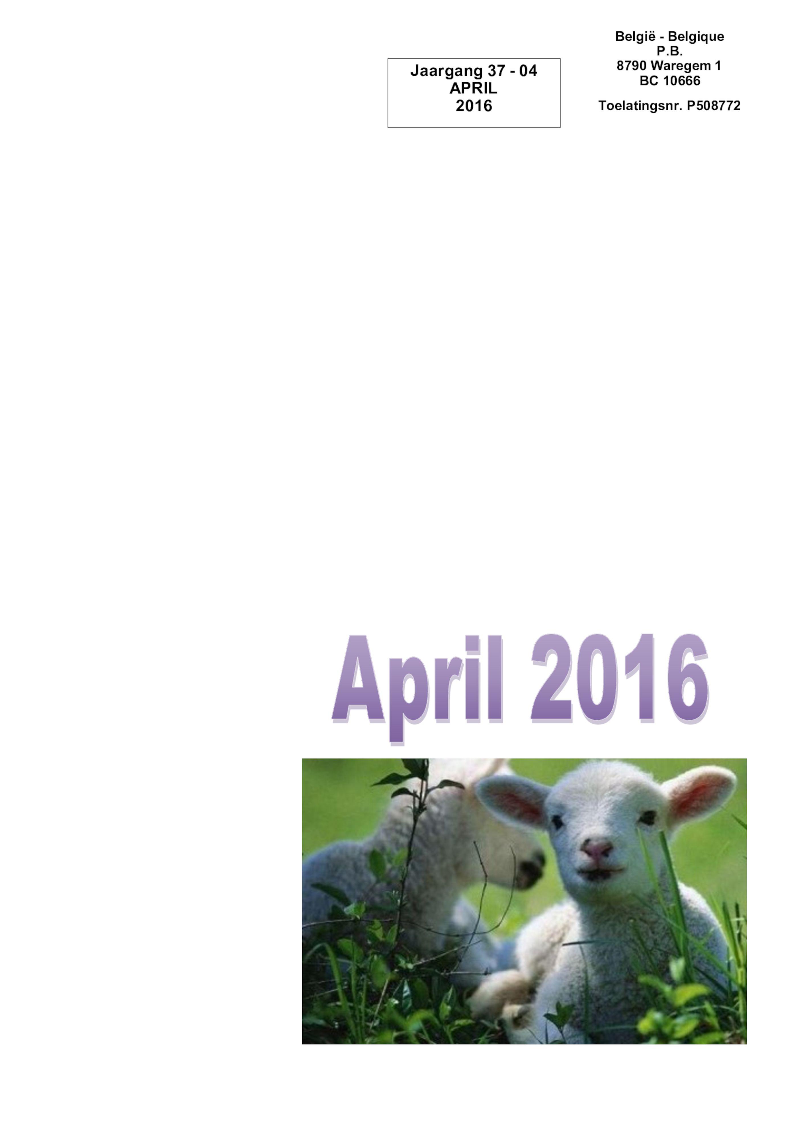 De Belle april 2016