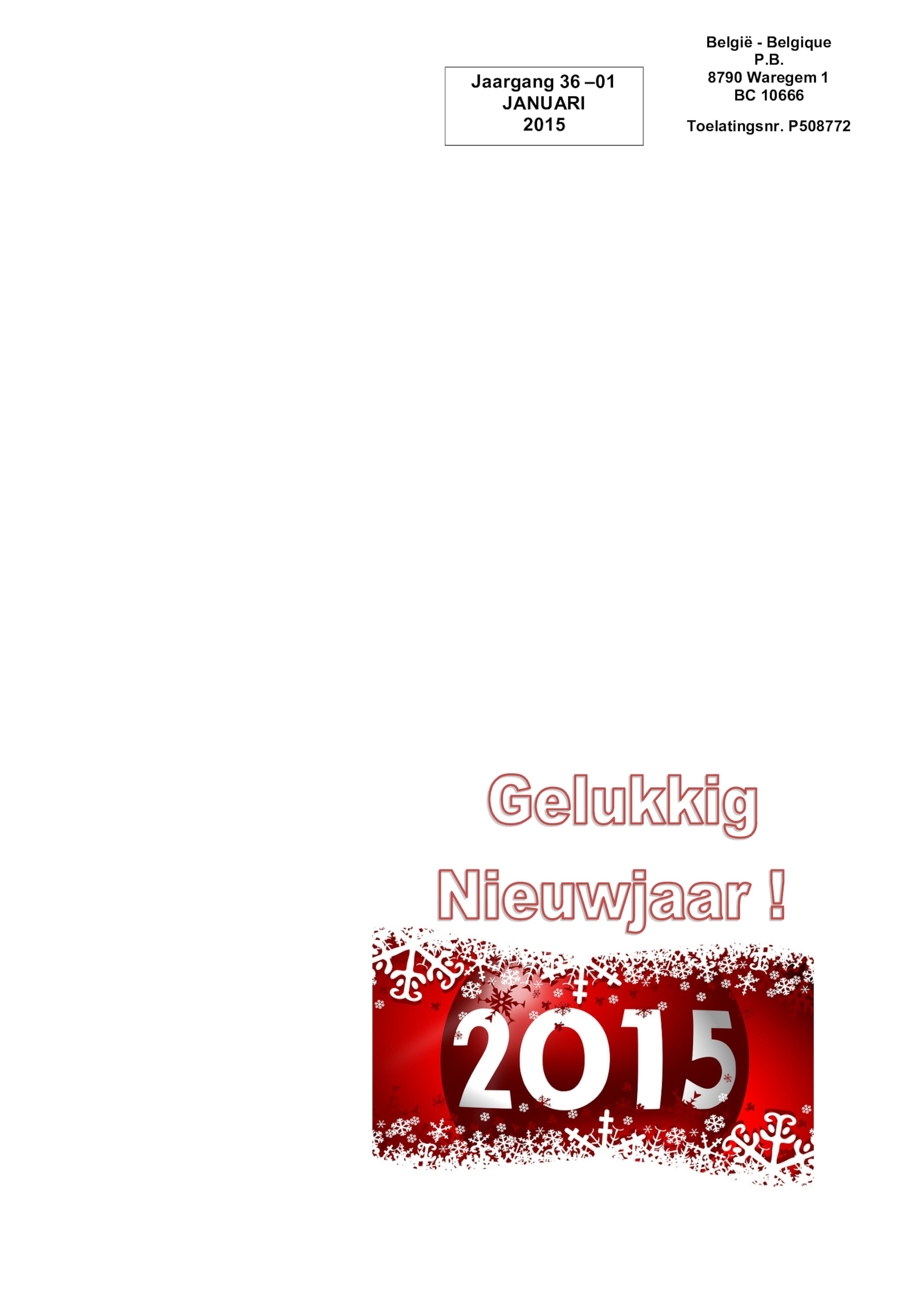De Belle januari 2015