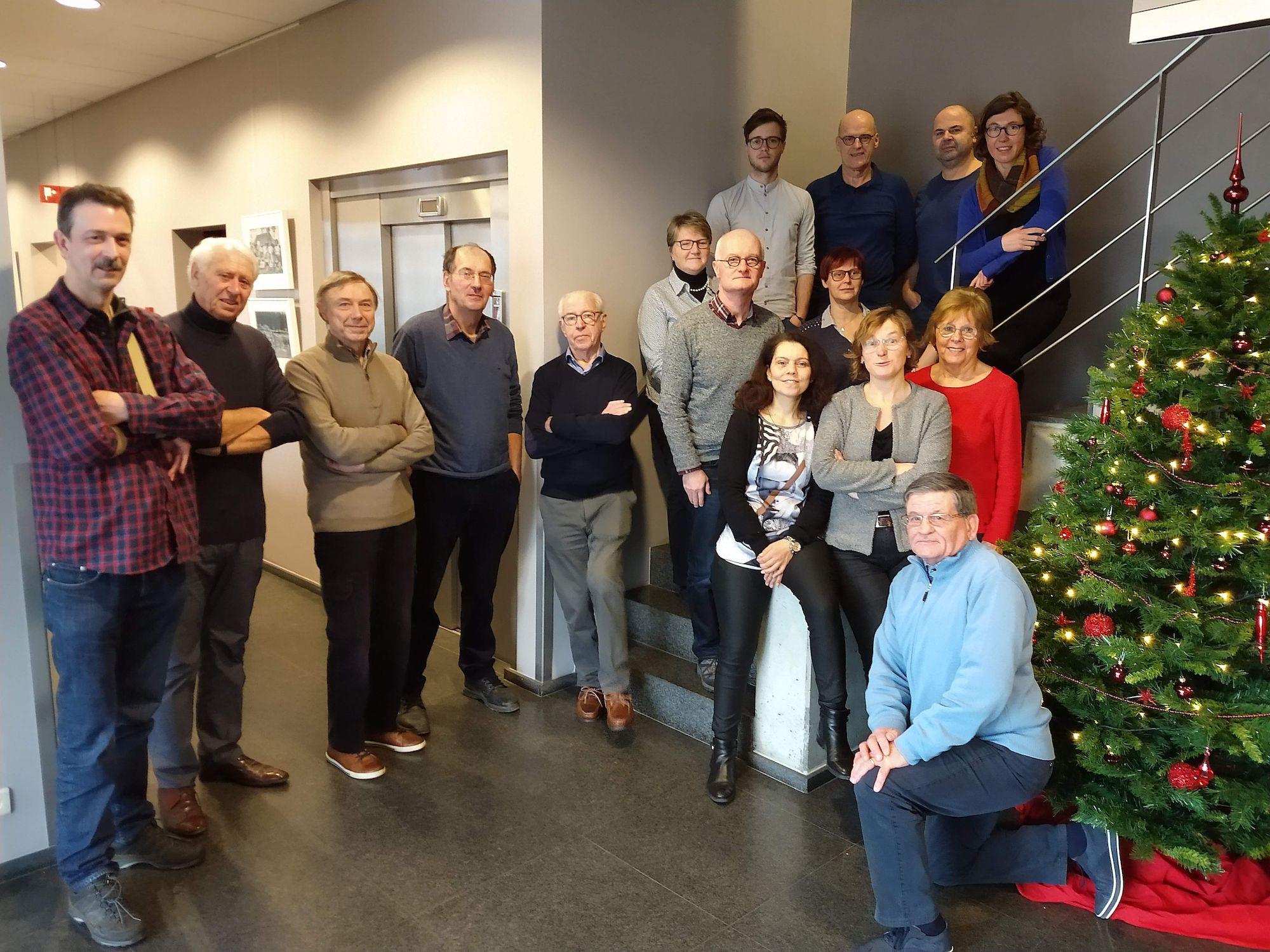 Nieuwjaarsetentje personeel en vrijwilligers van het Provinciaal Archief op 15 januari 2019