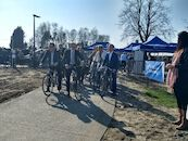 Opening fietstunnel in Ooigem