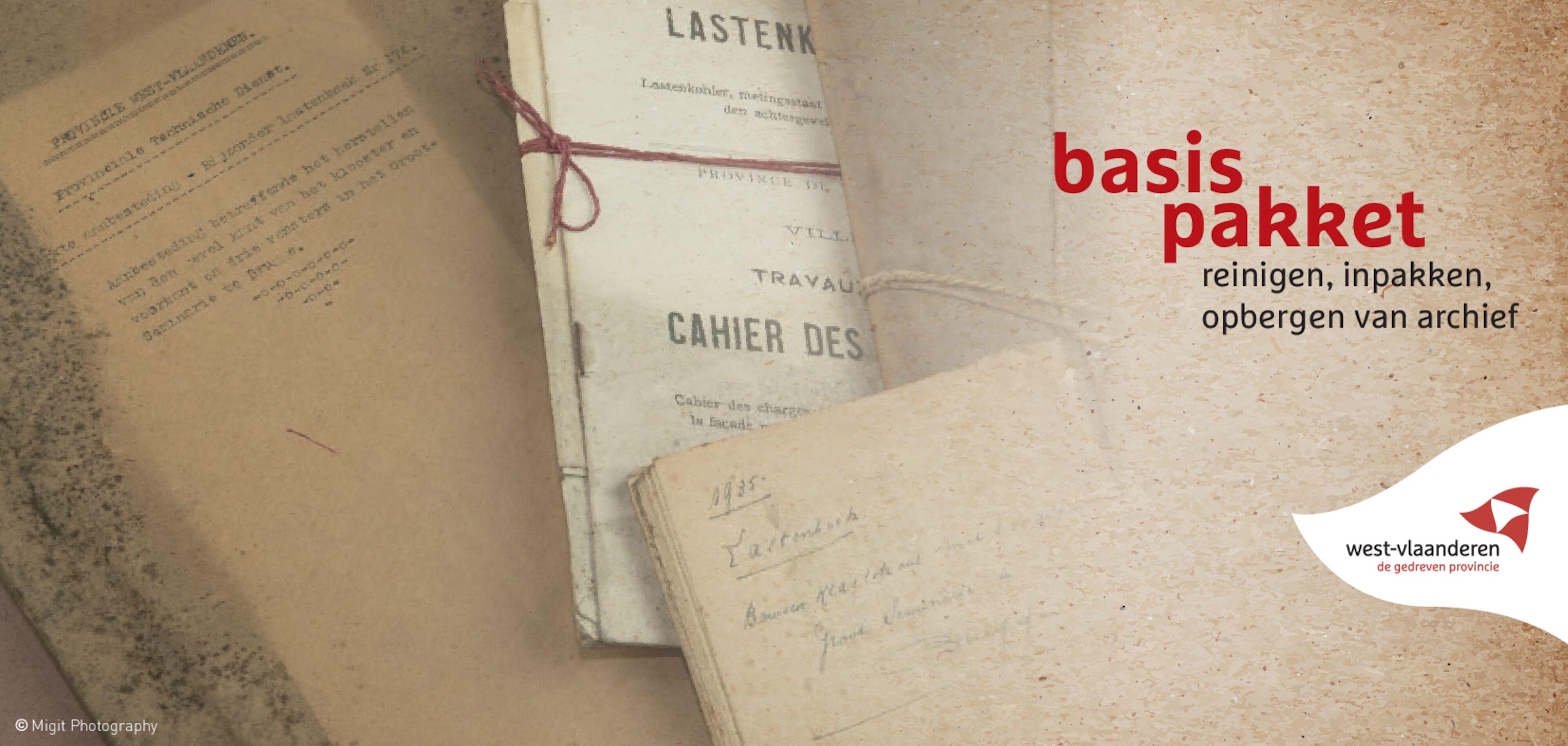 Basispakket reinigen, inpakken, opbergen van archief