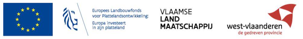 Logo: West-Vlaanderen met VLM.