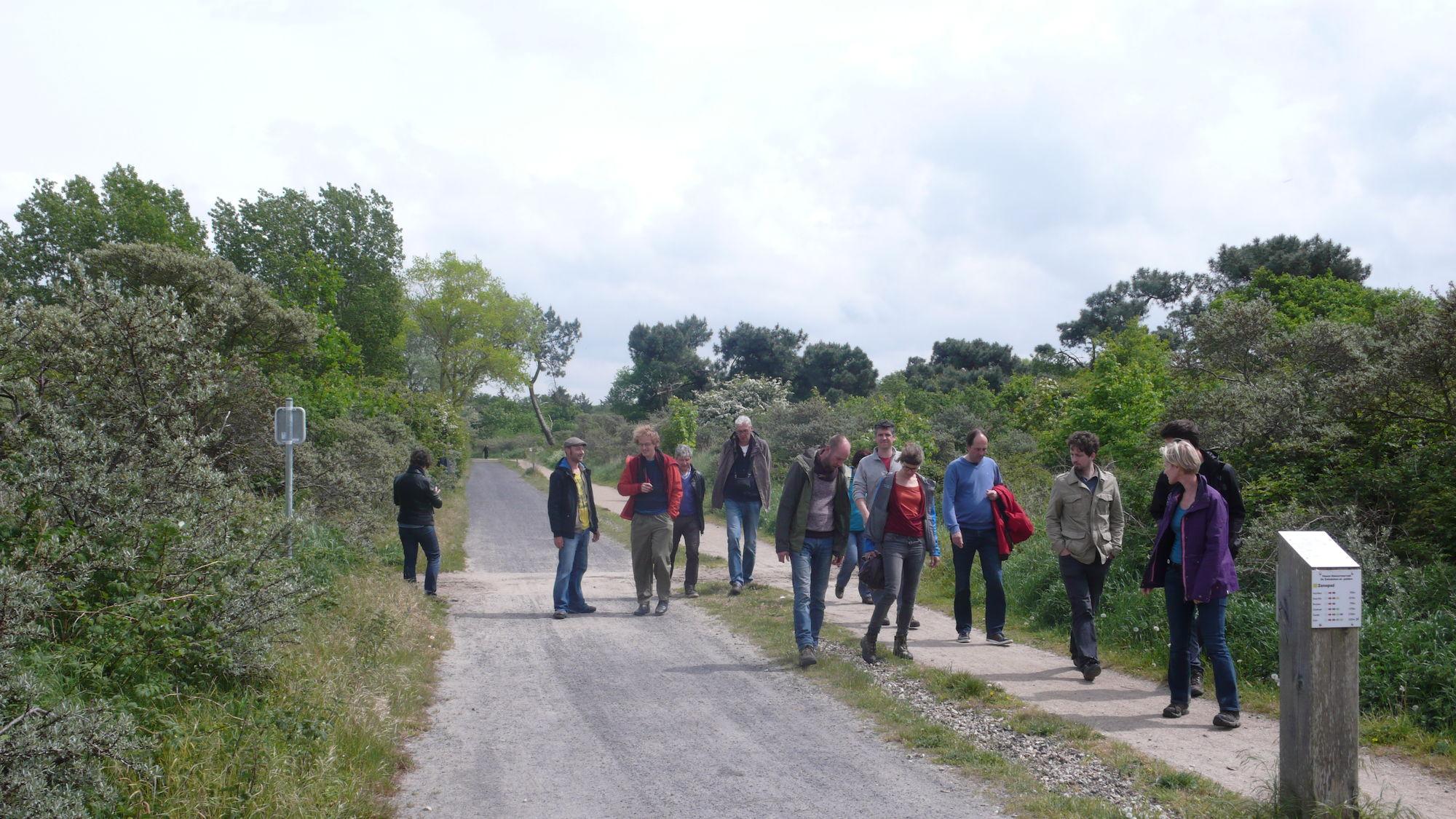 Terreinbezoek inrichting trage wegen 20 mei 2016