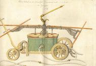 Afbeelding van een brandweerspuit uit de fabriek van de Koninklijke Brandspuitmaker J. J. Fischer te Nijmegen (Nederland)