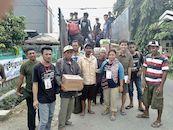 Noodhulp aan slachtoffers van aardbeving en tsunami in Indonesië