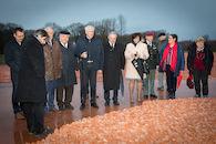 Officiële opening Landart-installatie CWxRM '600.000 namen, 600.000 beeldjes'.