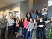 Nieuwjaarsetentje personeel en vrijwilligers van het Provinciaal Archief en team Westflandrica op 16 januari 2018