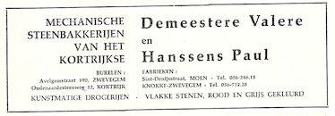 reclame Demeestere Hanssens