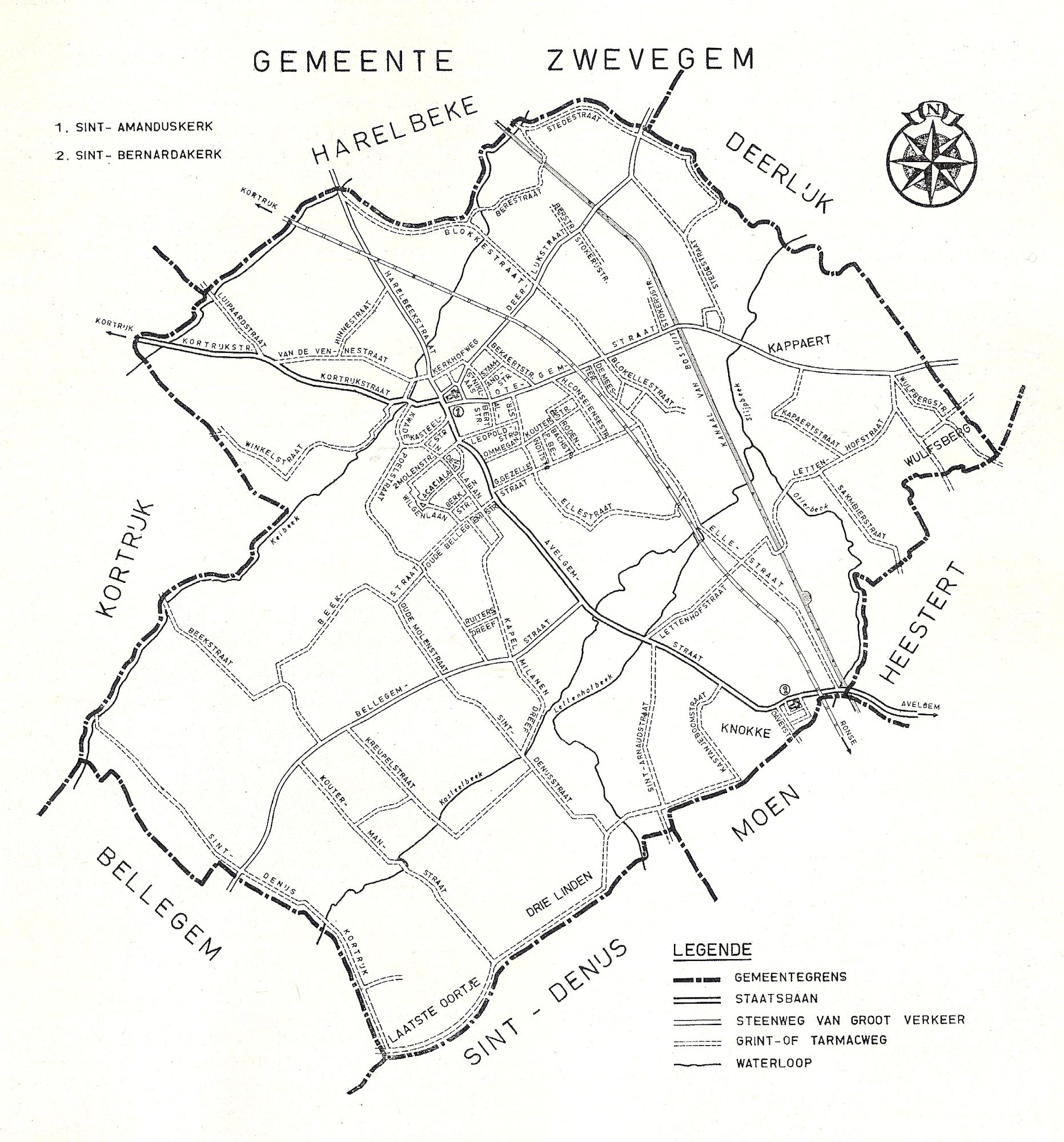 Grondplan gemeente Zwevegem